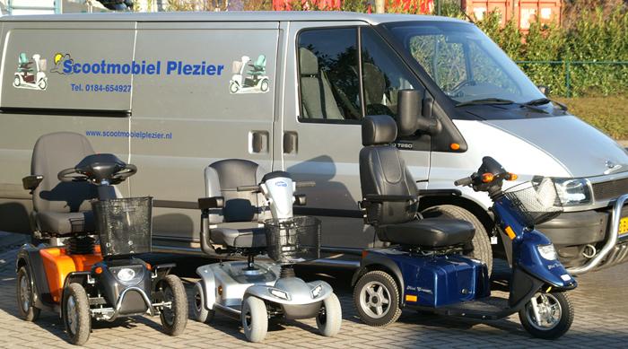 Servicewagen van Scootmobiel Plezier