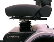 Optie schuifslede onder de stoel