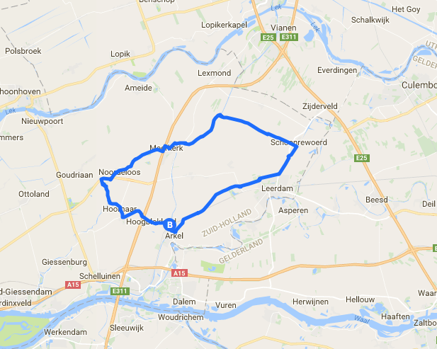 scootmobiel route