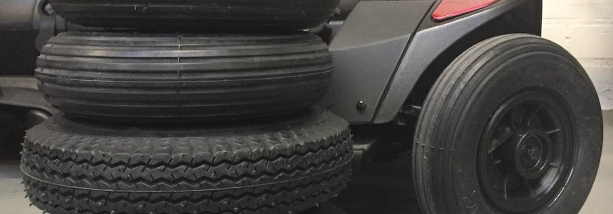 luchtbanden opvouwbare scootmobiel